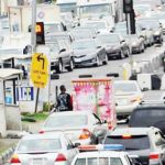 Heavy traffic in Lekki as Lagos residents flout lockdown